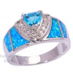 Opaali ja topaasi kiviga sõrmus